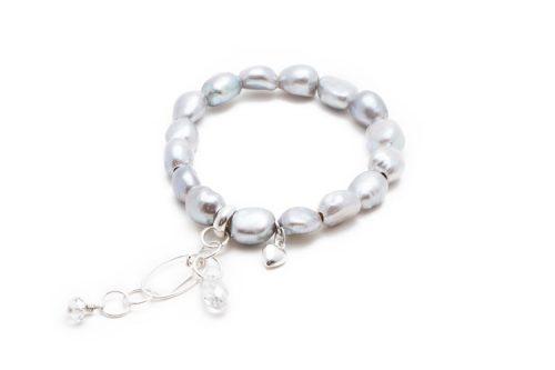 freshwater baroque pearl Swarovski bracelet