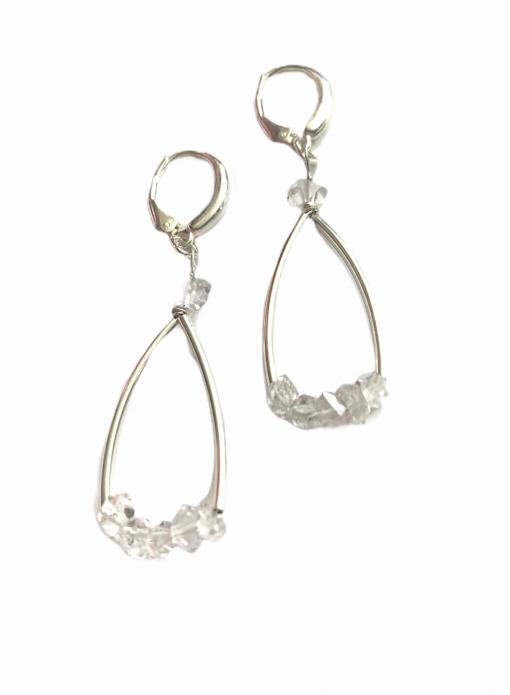 Herkimer Diamond Sterling Silver Earrings by LULU | B